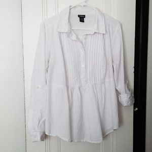 Torrid - White collar blouse - Size 0 = Large = 12